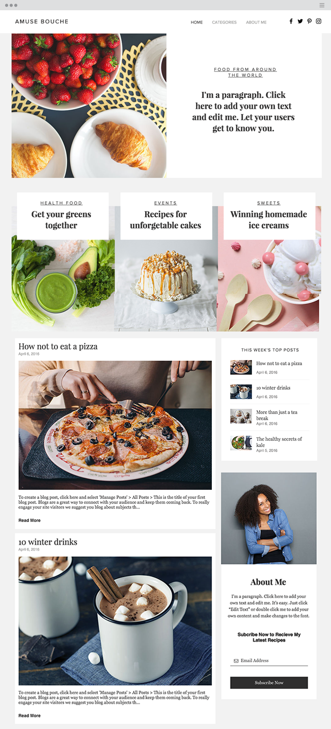 12 Stunning Website Templates You Can T Miss In 2016 Blog Website Template Website Template Wix Templates