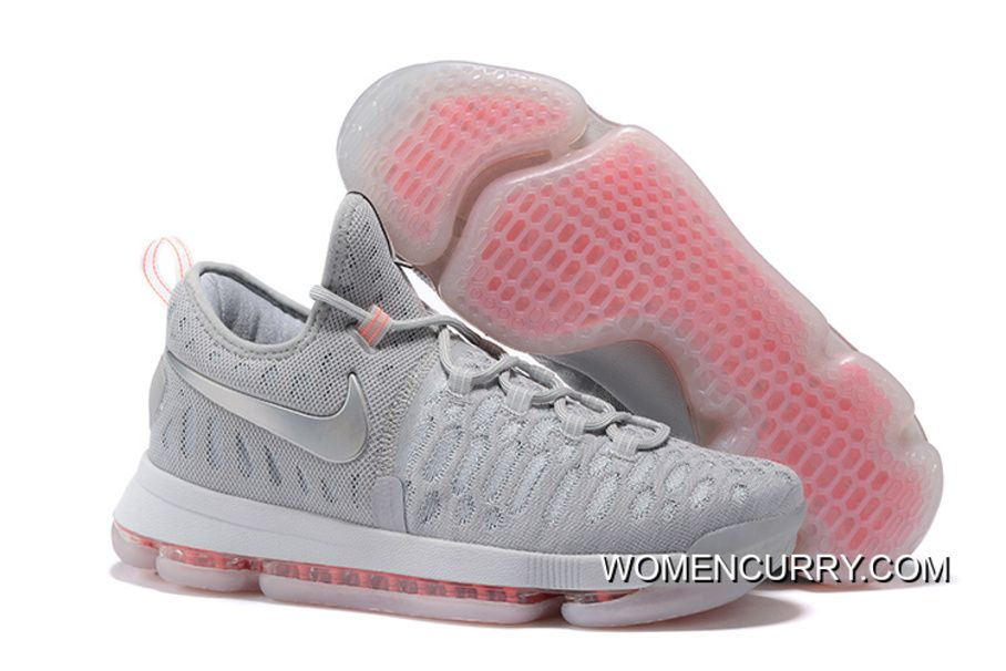 52e9cdda4183e8 Nike KD 9 Pink Black Aunt Pearl Flora Mens Basketball Shoes Discount ERsdZb