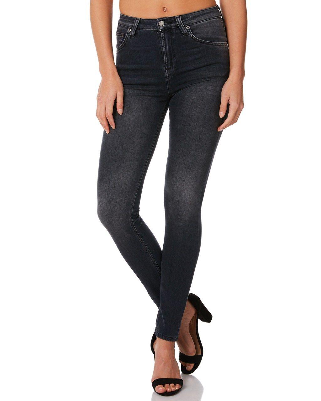 15a0df7b31cc3 Nudie Jeans Co Womens Hightop Tilde Jean Black Movement Womens jeans Size 31
