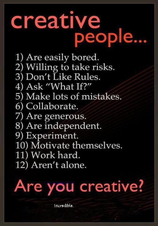 Creatives are... #quotes #creativity #artists