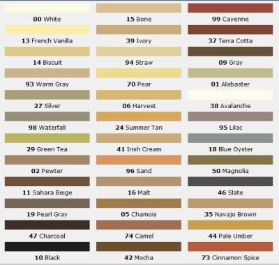 Mapei Grout Color Chart MAPEI Pinterest