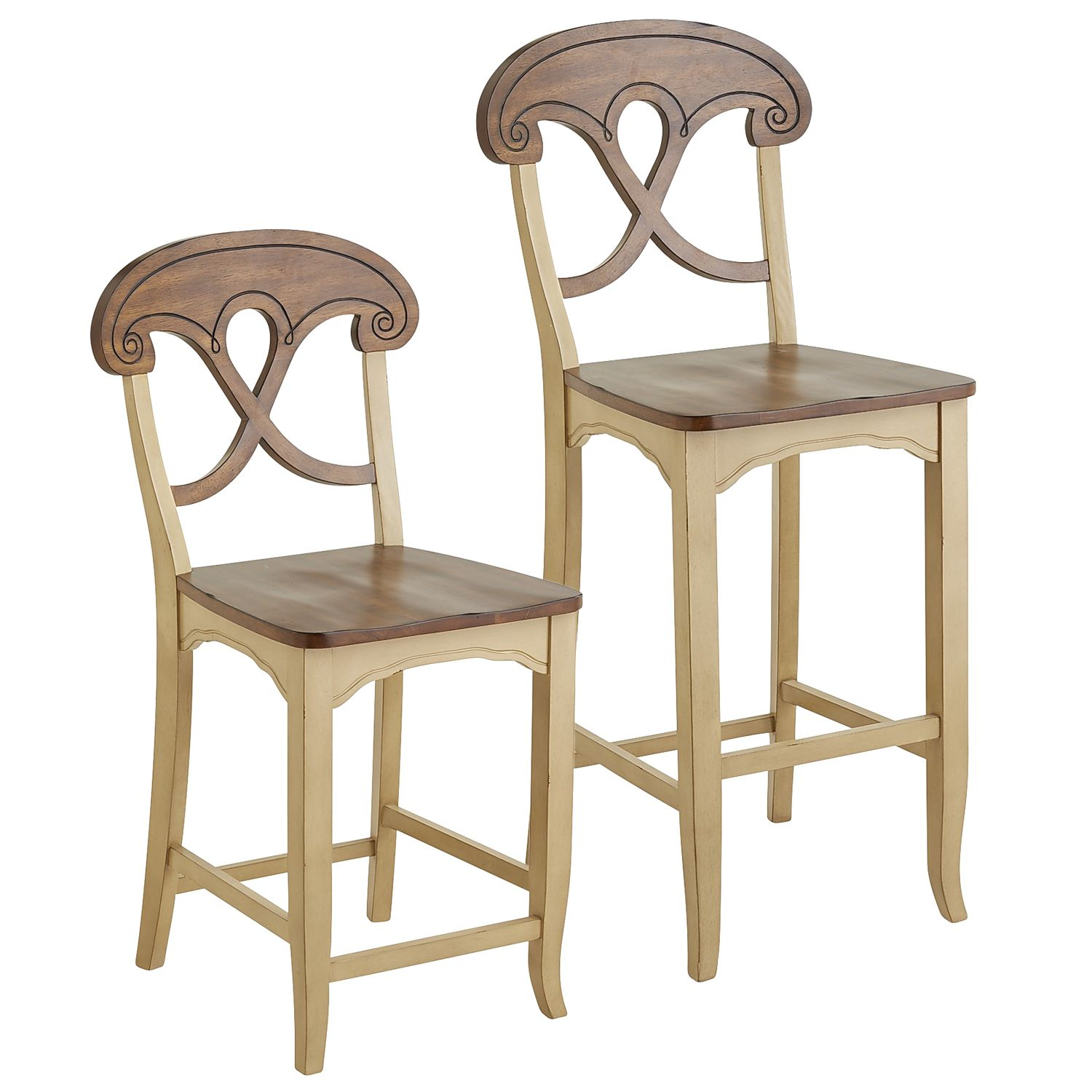 Marchella Antique Ivory Counter & Bar Stool