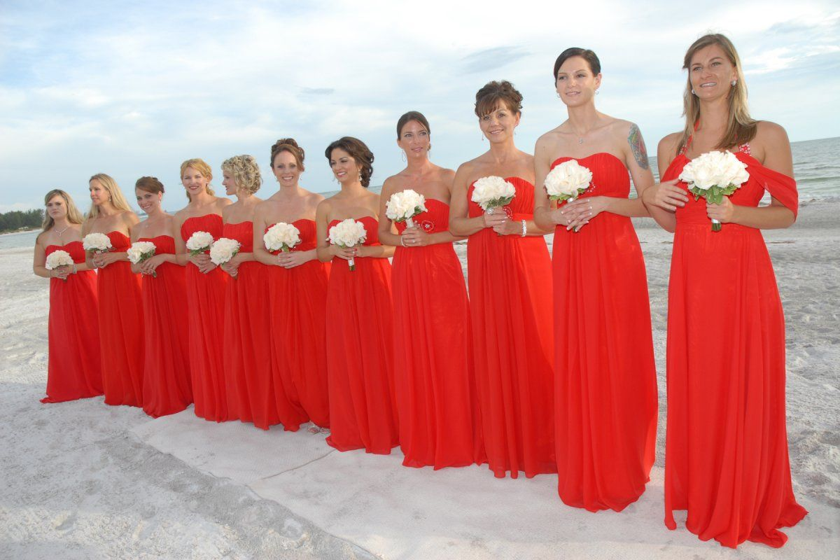 White Dress with Red Roses   Dream Destination Wedding at the Longboat Key  Club   FlowersWhite Dress with Red Roses   Dream Destination Wedding at the  . Destination Wedding Bridesmaids Dresses. Home Design Ideas