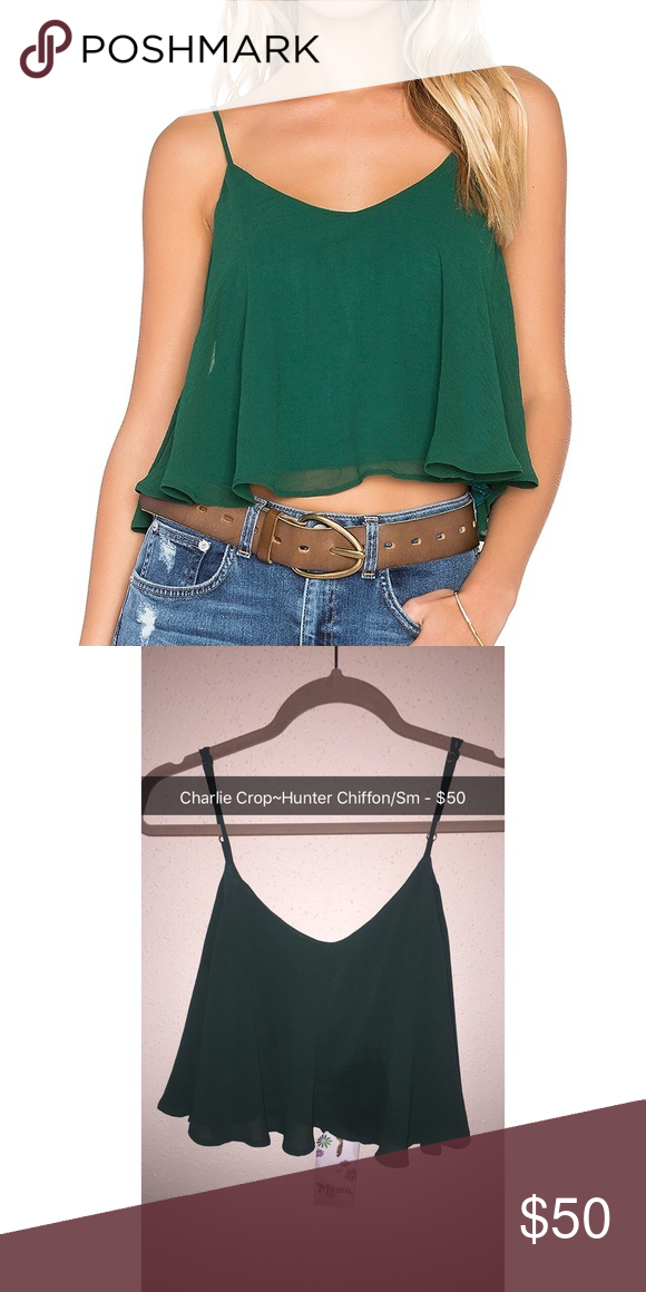 Nwt Charlie Crop In Hunter Chiffon Worn Once The Goes With Everything
