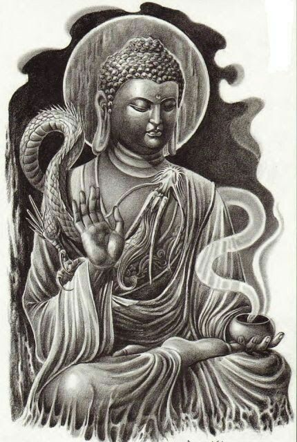 50 brilliant buddha tattoos and ideas with meaning. Black Bedroom Furniture Sets. Home Design Ideas