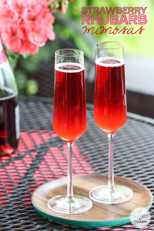 Strawberry Rhubarb Margarita Inspired By Charm Rhubarb Strawberry Rhubarb Fun Drinks