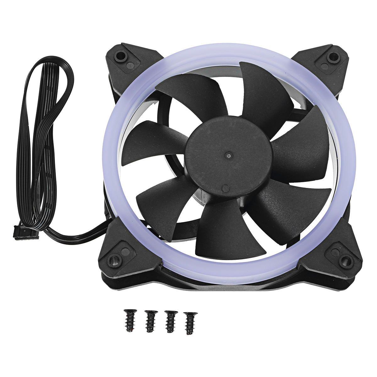 Dc 12v 120mm 3pin 4pin Rgb Led Pc Fans Sleeve Bearing Cooling Fan
