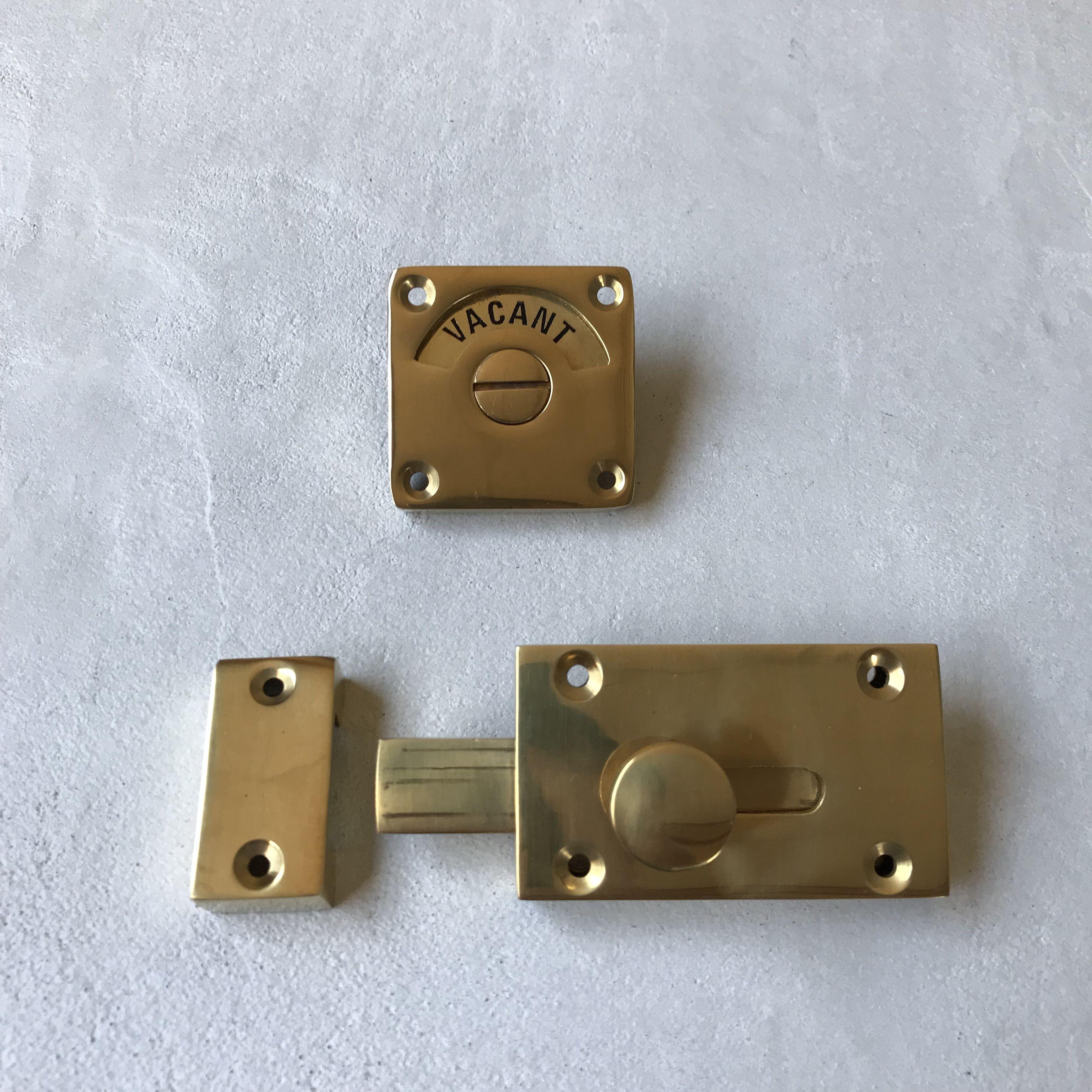 真鍮表示錠 Type1 ドアハンドル トイレ 表示 リビングドア