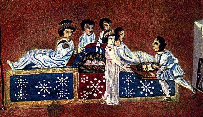 The Sinope Gospels (Paris, Bibliothèque Nationale, MS gr. 1286, also known as the Codex Sinopensis) is a fragment of a 6th century illuminated Greek Gospel Book. Beheading Of John the Baptist