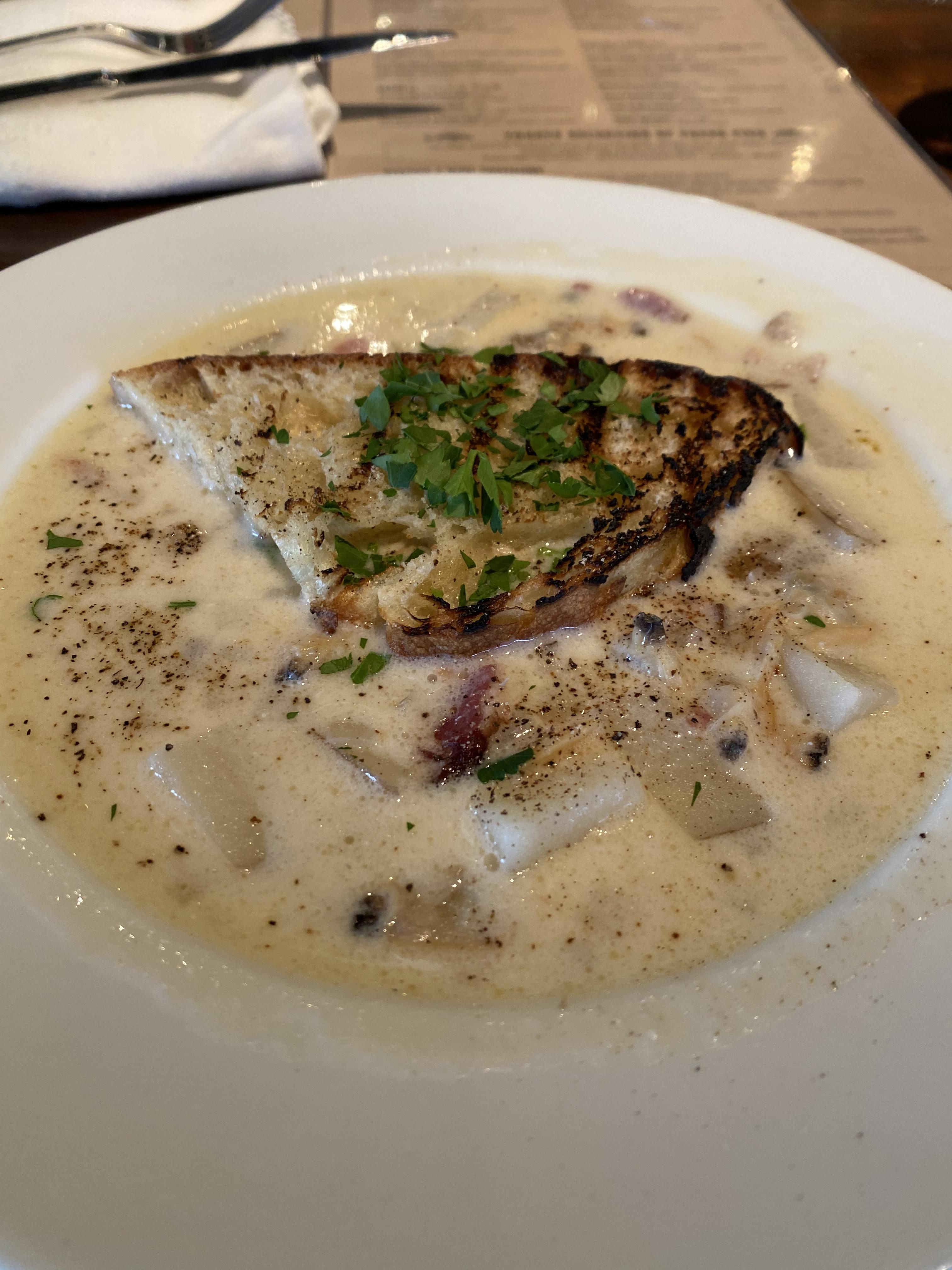 New England Clam Chowder at Buck and Rider