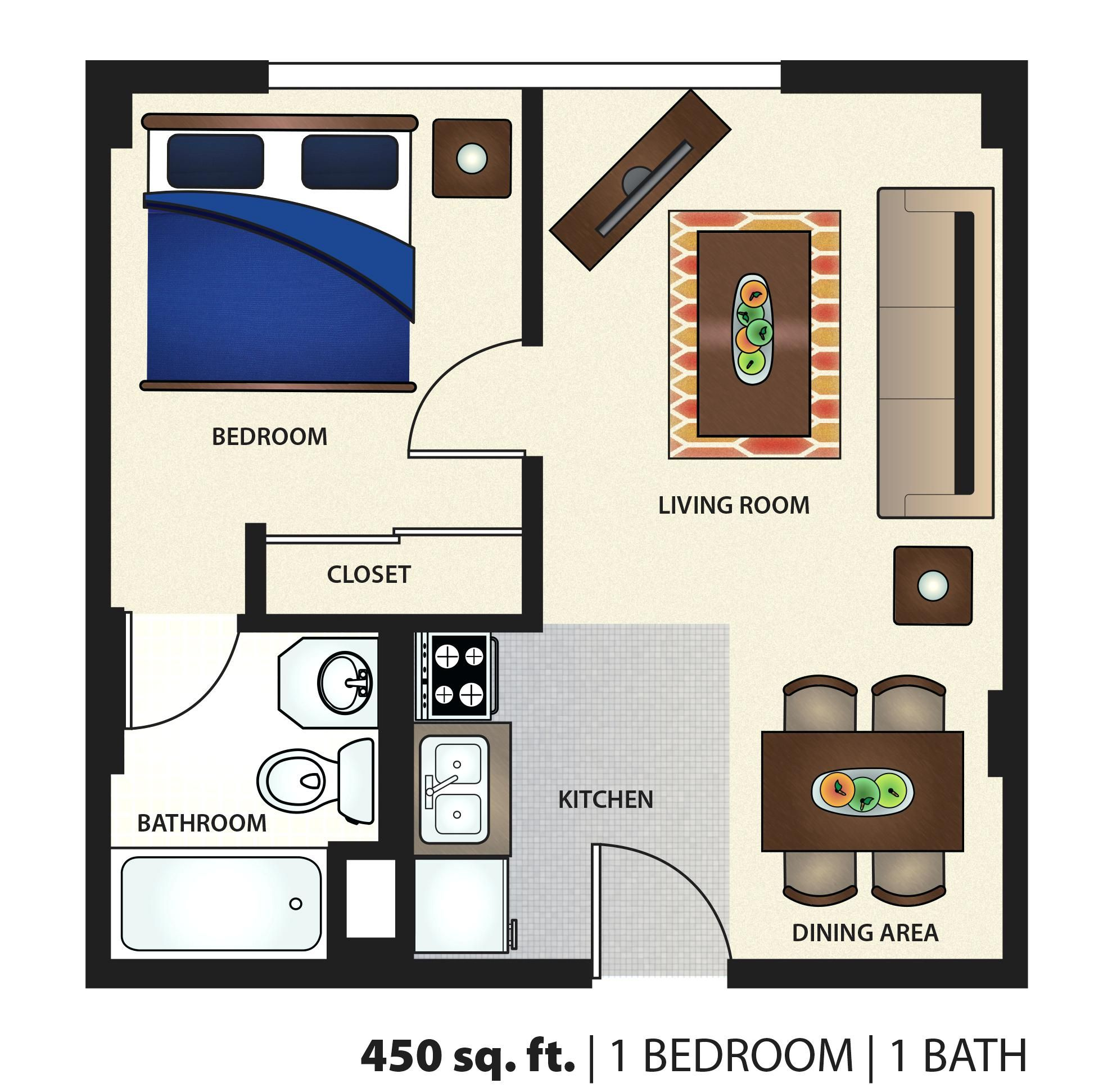 Image Result For 450 Sq Ft Apartment Layout Apartment Floor Plan