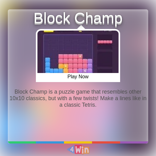 Block Champ Game Free Online Games in 2020 Games