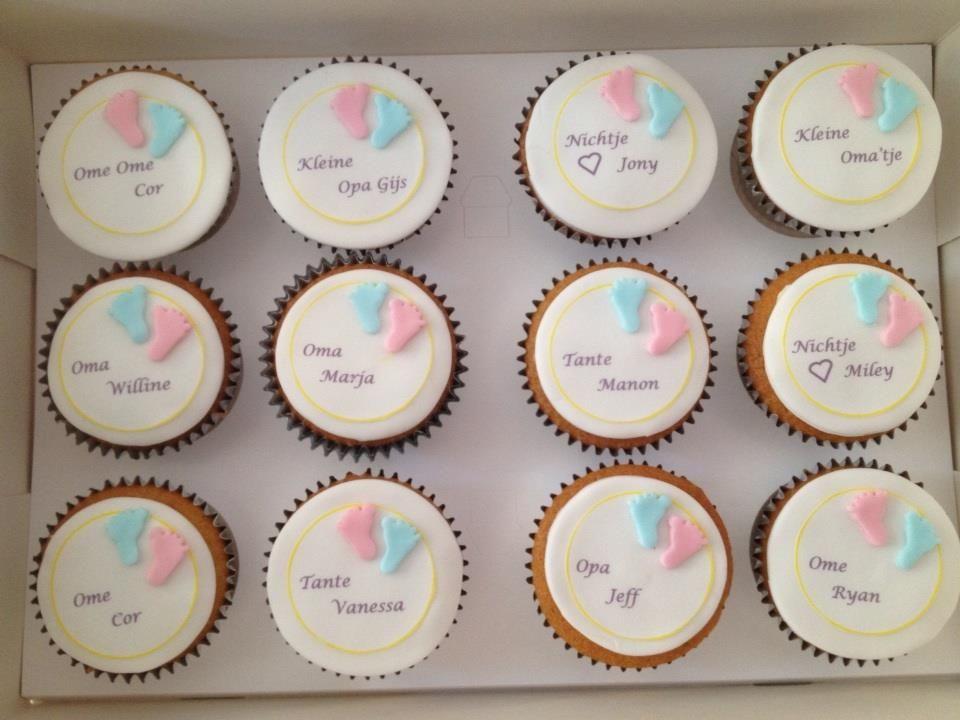 Top Zwangerschaps aankondiging. Cupcakes | Baby - Baby shower cakes @NG03