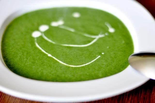 suppentopf: Spinatsuppe mit Avocado