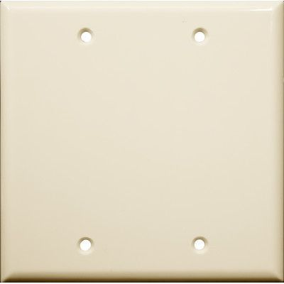 Morris Products 2 Gang Blank Lexan Wall Plates in Almond (Set of 5)