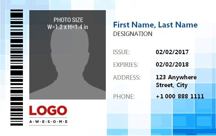 Id Badge Template 4 Id Card Template Badge Template Employees Card