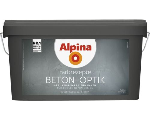alpina effektfarbe beton optik komplett set grau ink alpina kelle effektfarbe grau und kaufen. Black Bedroom Furniture Sets. Home Design Ideas