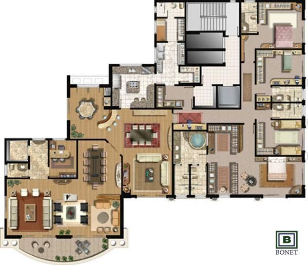 Best 20 apartamentos na planta curitiba ideas on for Piani casa bungalow cottage