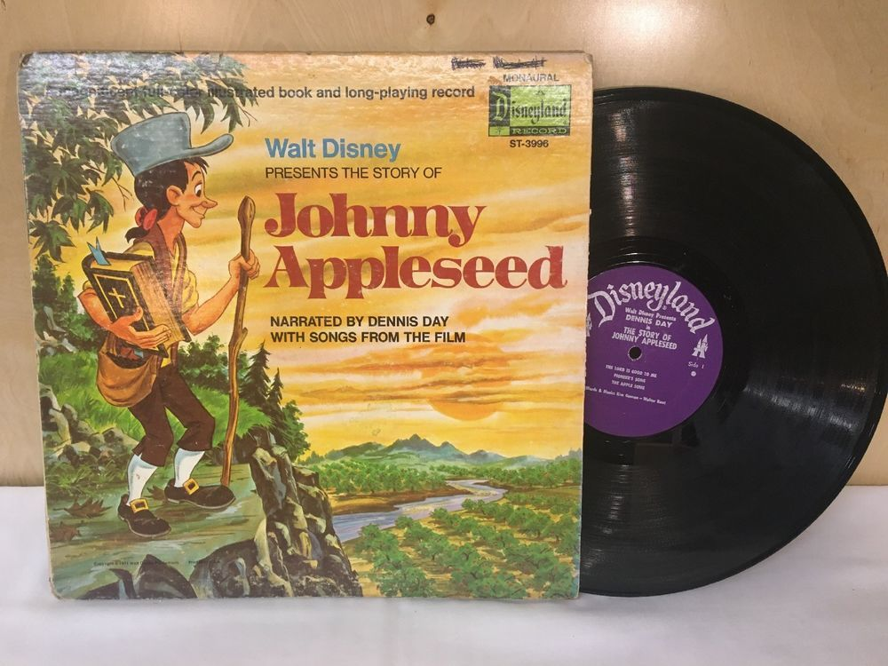 Walt Disney Story of Johnny Appleseed Book & Record