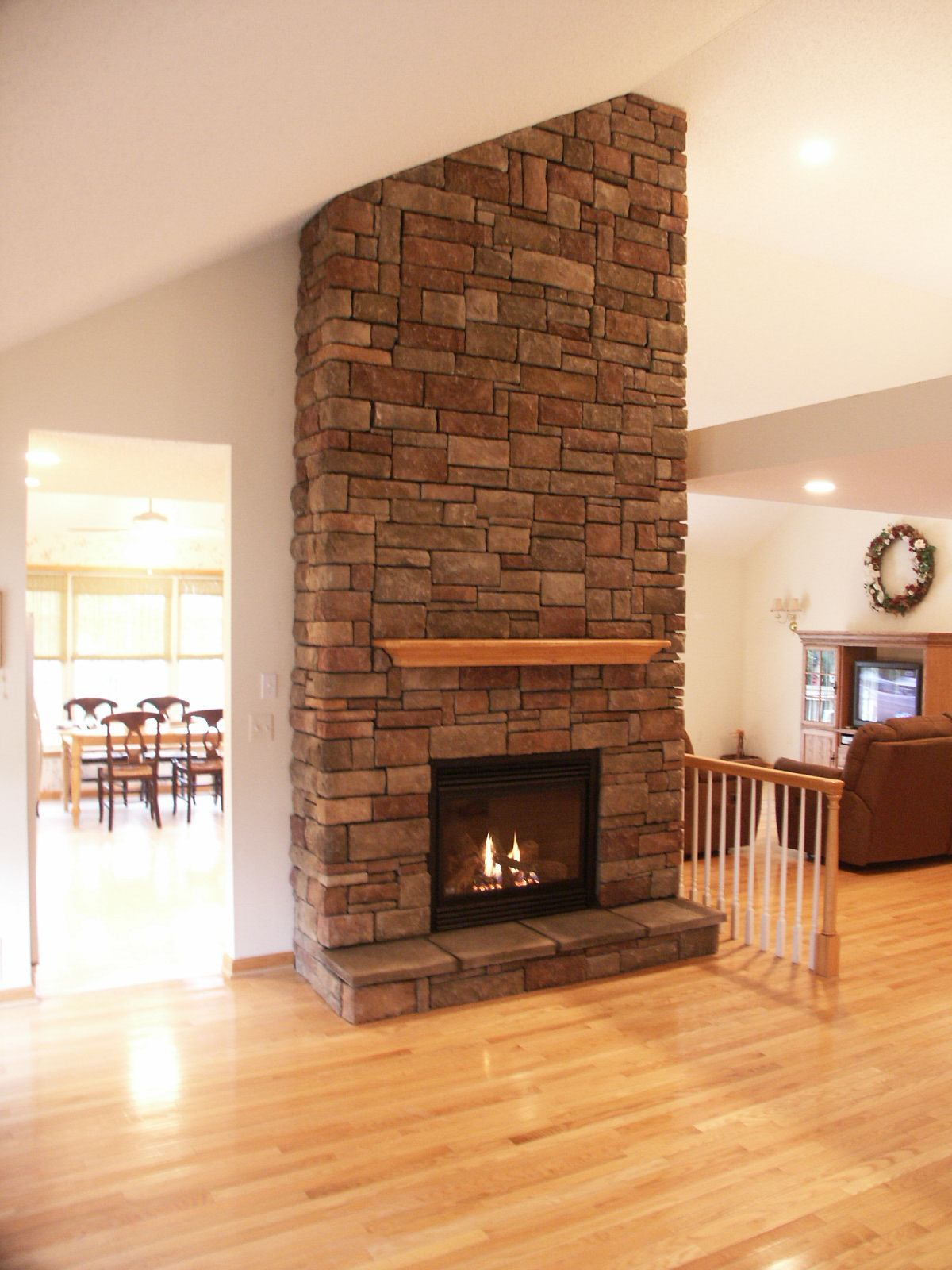 Interior design a new gas beautiful fireplaces stone Brick fireplace wall decorating ideas