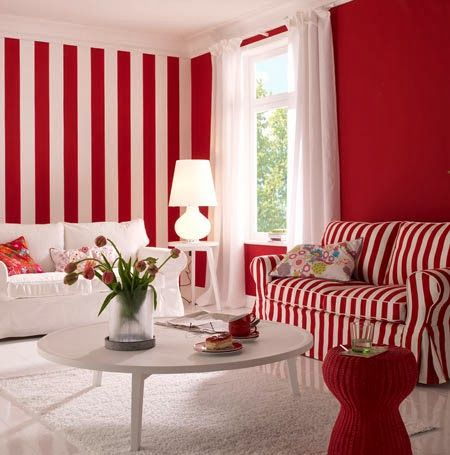 sala en color rojo | COMBINANDOS COLORES | Pinterest | French ...