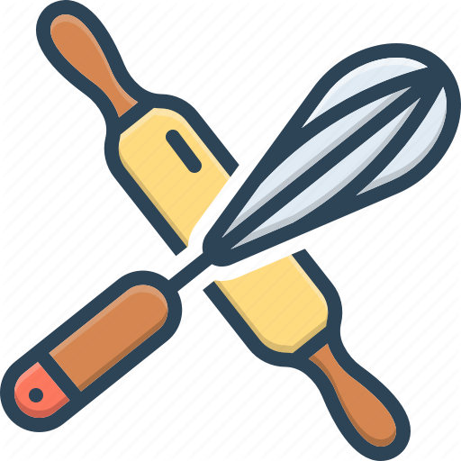 Bake Bakery Crossed Rolling Pin And Whisk Dishware Kitchen Object Roller Icon Download On Iconfinder Dishware Rolling Pin Roller