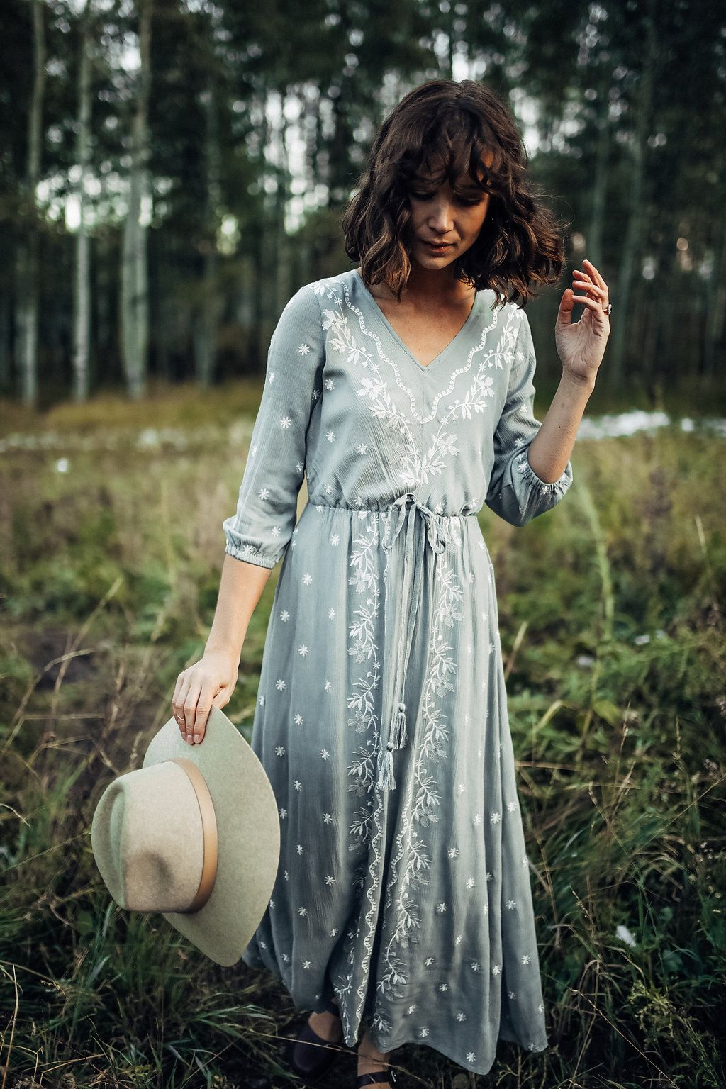 PIPER & SCOOT: THE ALIDA DRESS IN CHINOIS GREEN// DRESSES// WOMENS CLOTHING// FALL OUTFITS