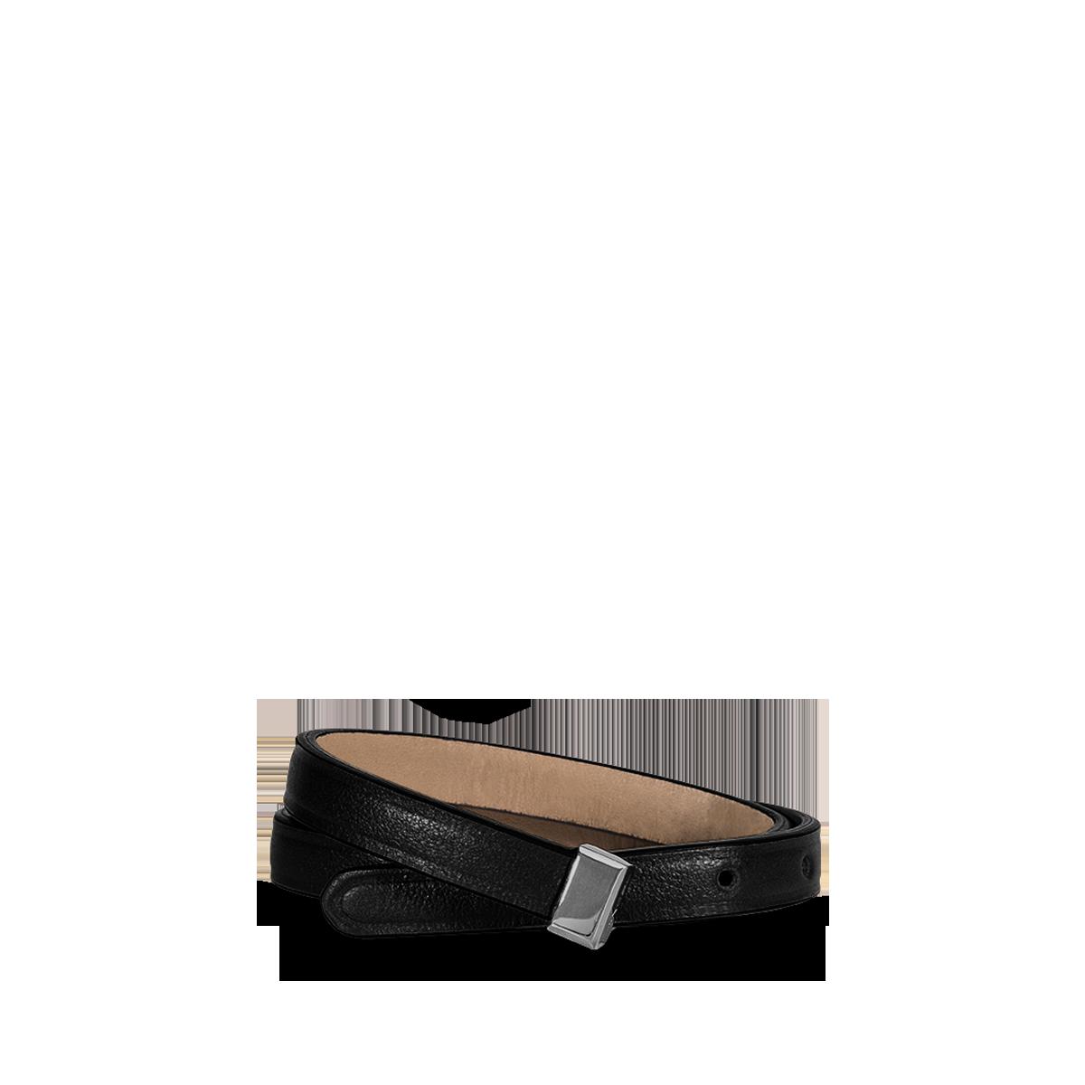Lancel bracelet noir en cuir de vachette de la collection