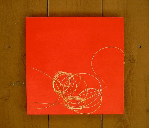 red and gold love  10x10