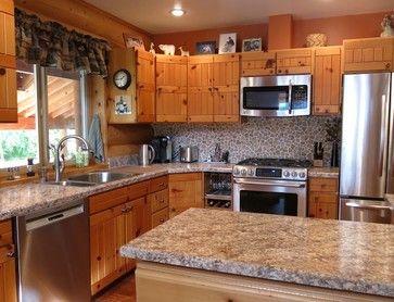 Log Cabin Kitchen Backsplash Ideas Kitchen Design Ideas