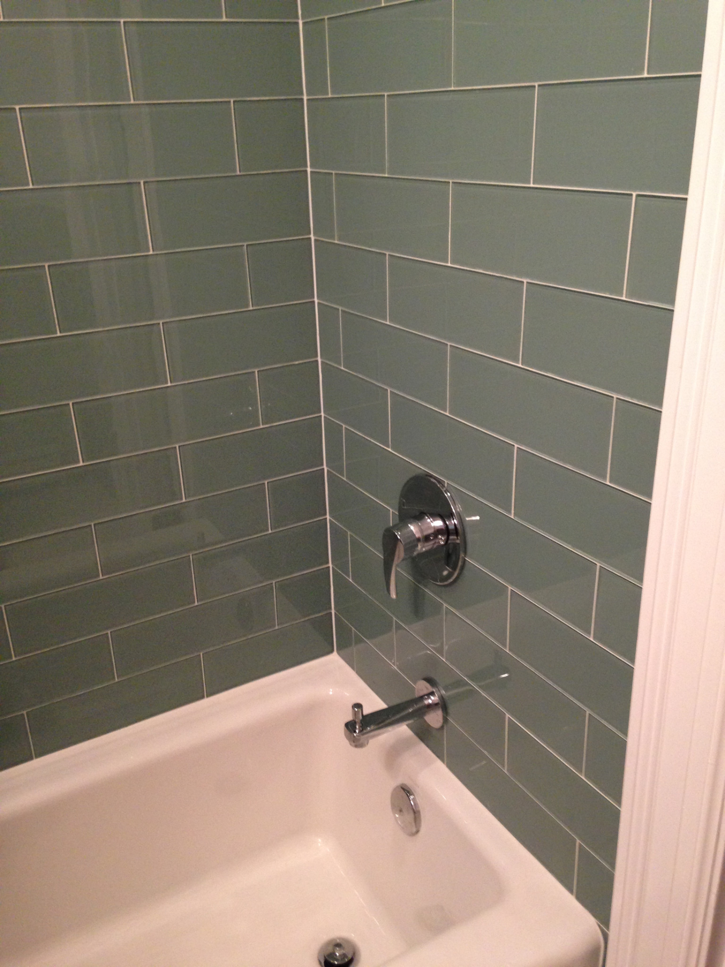 Seaside Blue 4x12 Glass Subway Tiles Home Tiles Bathroom Glass