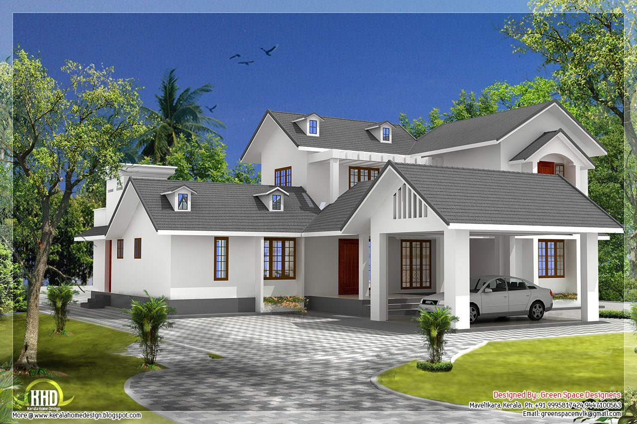 5 Bedroom House With Gable Roof Type Design Pool House Interiors