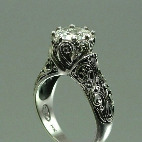 Gorgeous Gothic inspired engagement ring -fantastic filigree ...