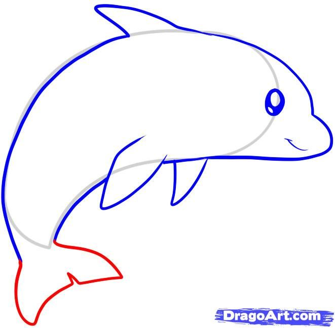 how to draw a dolphin for kids step by step animals for kids - Sketch For Kids