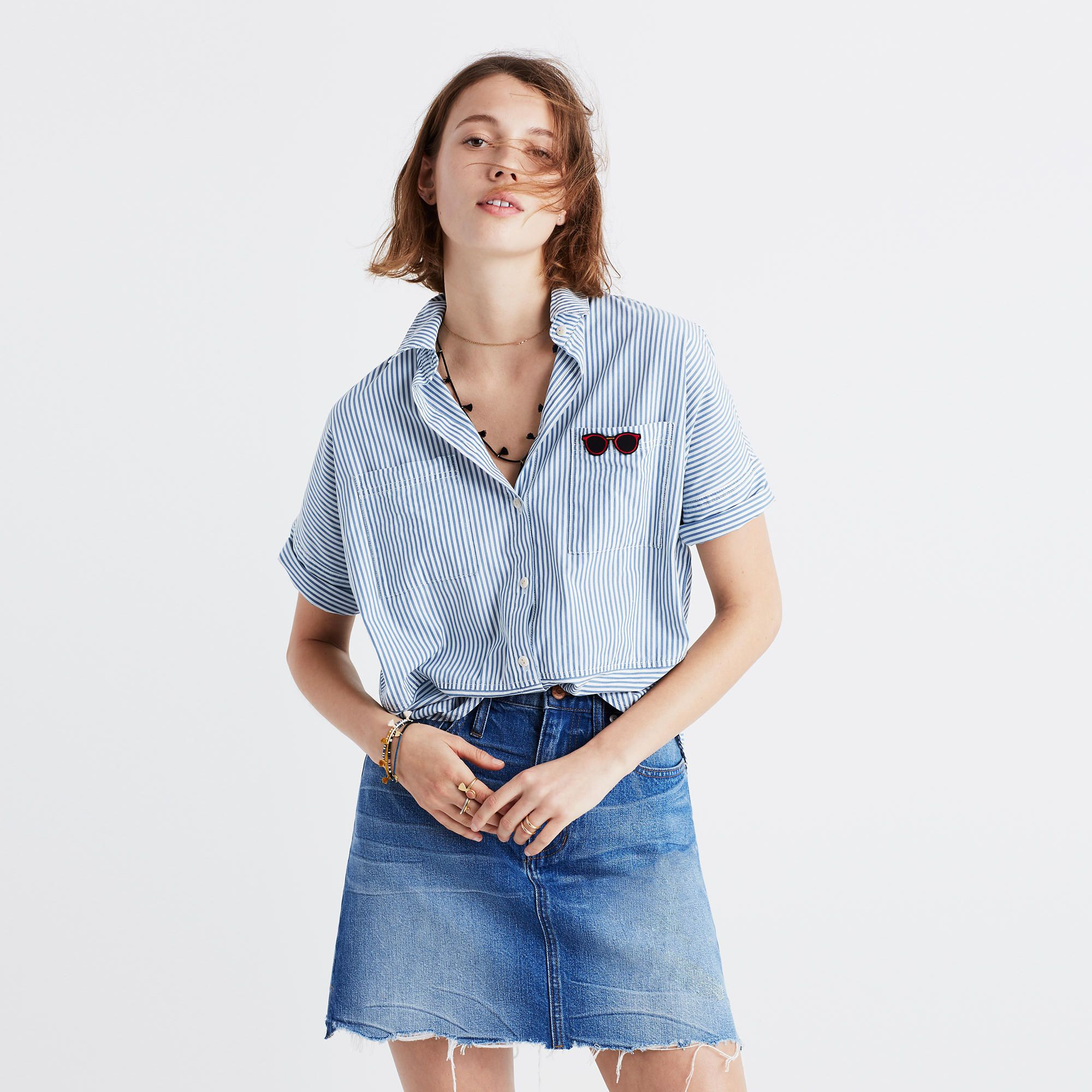 Courier Shirt in Stripe Play : button-up & popover shirts   Madewell