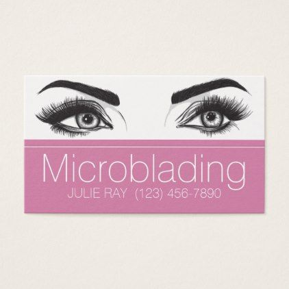Microblading eyebrows tattoo permanent makeup business card makeup microblading eyebrows tattoo permanent makeup business card makeup artist business customize diy reheart Image collections