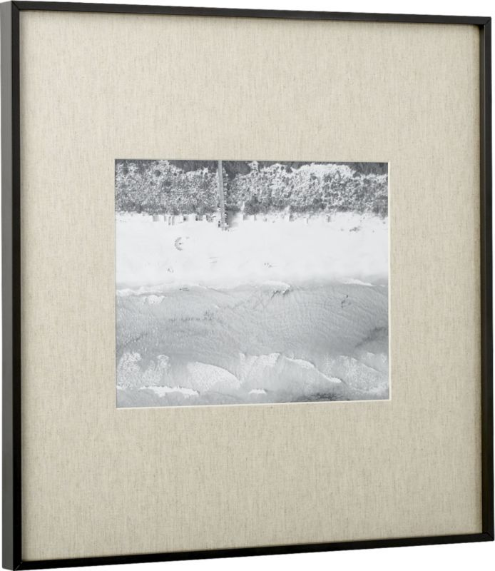 Gallery Black 11x14 Picture Frame With Linen Mat Products