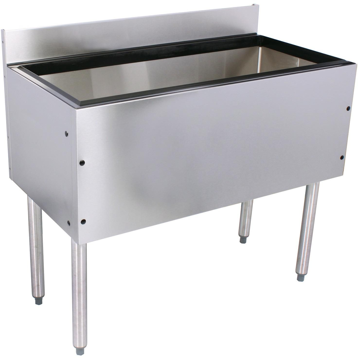 Glastender Choice Stainless Steel Commercial Back Bar Ice Bin 48 ...