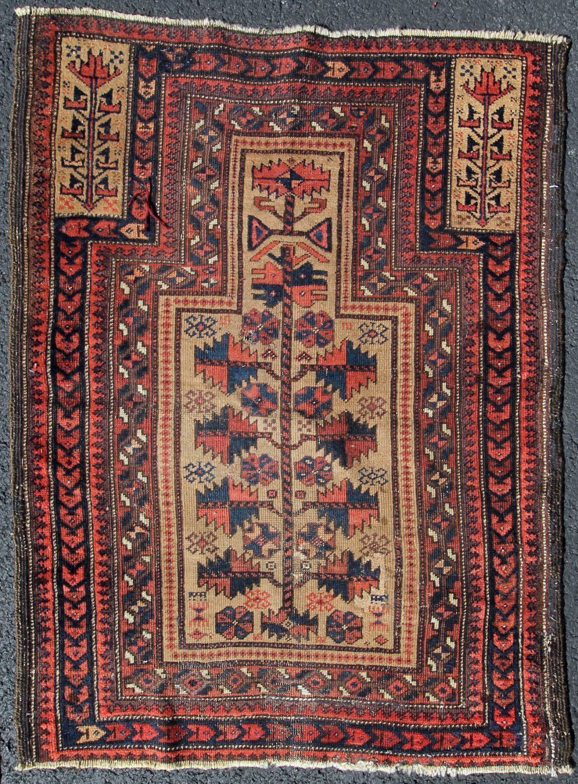 Antique And Archaic Baluch Tree Of Life Prayer Rug Prayer Rug Rugs Rugs On Carpet