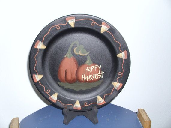 10 harvest plate feauturing pumpkins by judypope on Etsy, $12.00