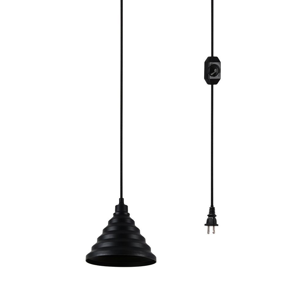 Portable Hanging Plug In Ceiling Lamp 1 Light Shade Hooks Black Silicone 15 Ft Creatgeek Ceiling Pendant Lights Ceiling Pendant Lamp Shades
