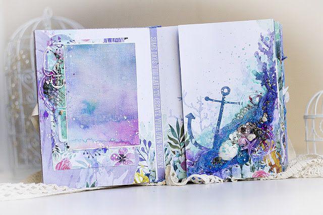 Scrapbooking by Chihan: Mermaid Tails album / Сказочный подводный мир от Kaisercraft