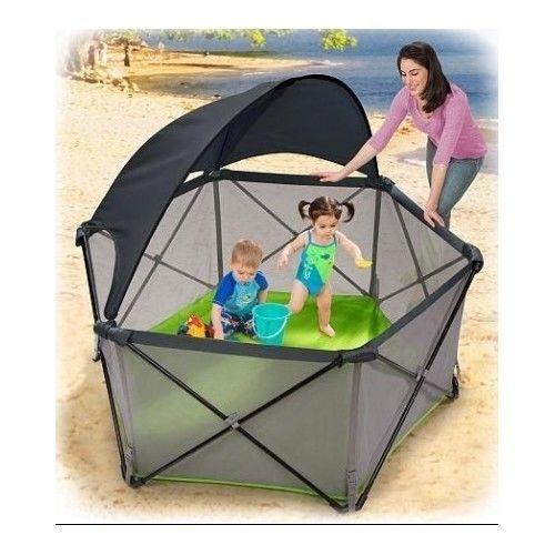 Infant Pop N Play Portable Playard Baby Mesh Outdoor Travel Playpen Pop N Play Summer Baby Playard