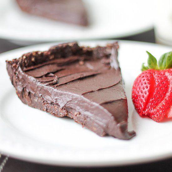 No Bake Double Dark Chocolate Hazelnut Torte. Sounds fancy but it is so easy to make. #Vegan #GlutenFree #Paleo