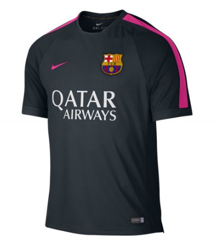 Barcelona Squad Short Sleeve Training Top Navy FC Barcelona Official  Merchandise Available at www.itsmatchday