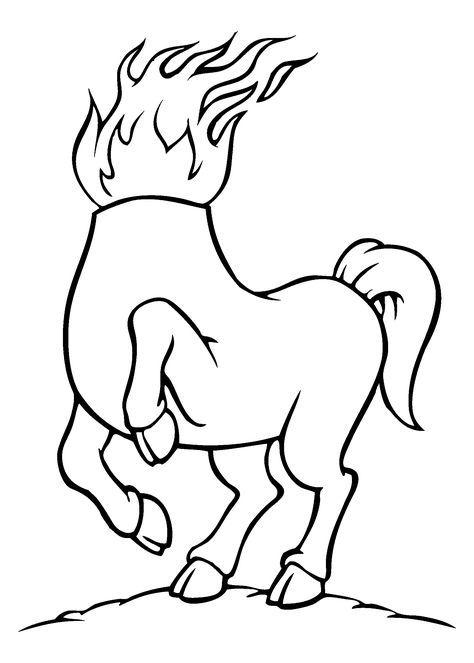 0248 Folclore Desenhos Mula Sem Cabeca Desenho Folclore