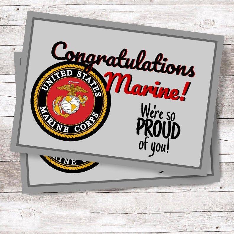 Marine Corps Greeting Card 5x7 Customizable