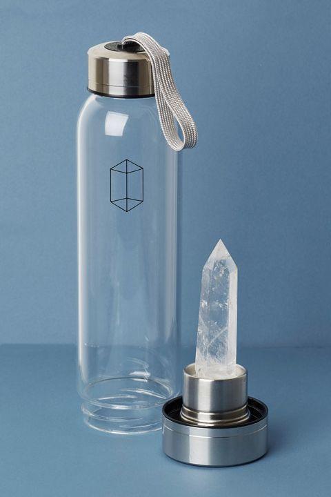 631a68f141 Bergkristall Edelstein Wasserflasche   Edelsteine   Water bottle ...