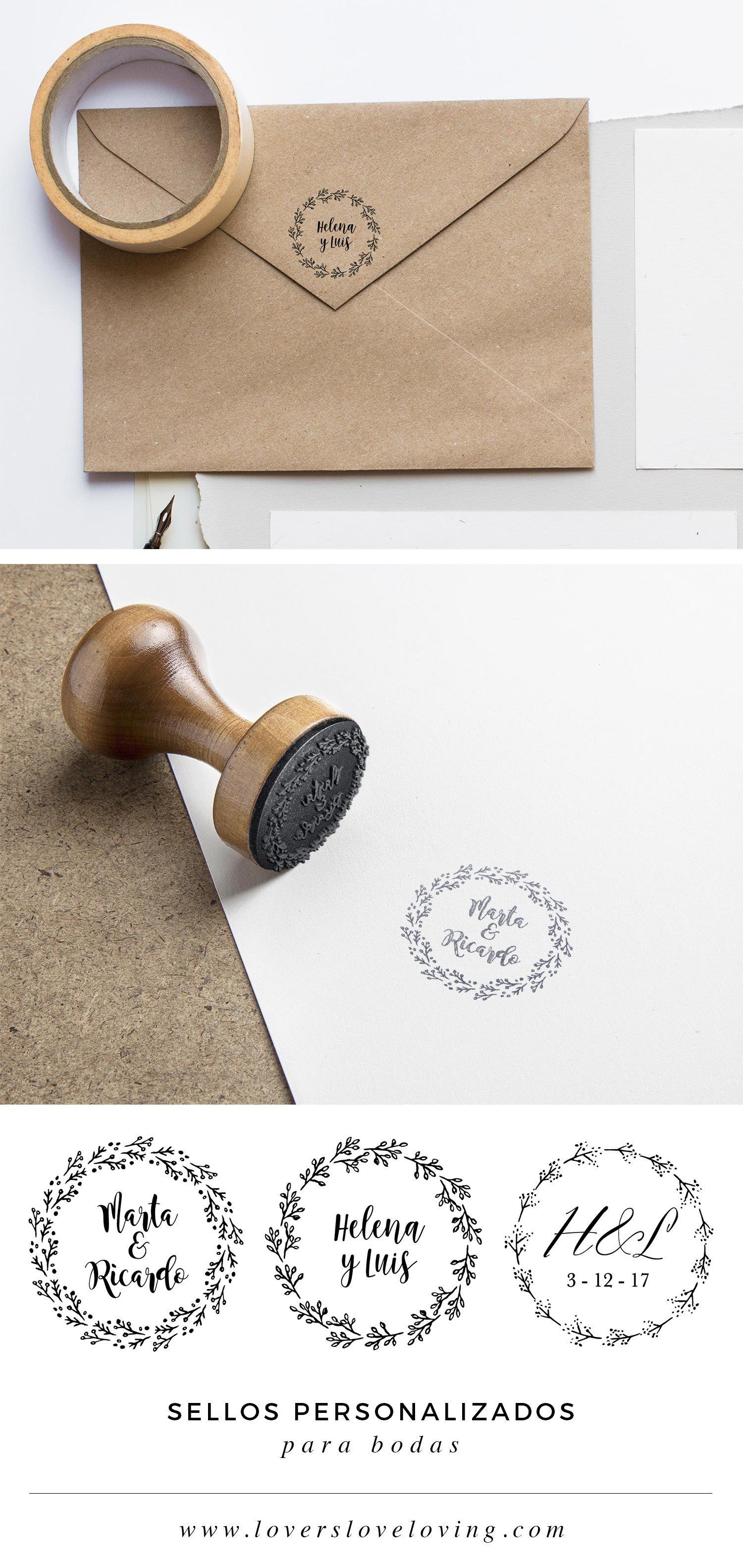 Wedding Logo SELLO CAUCHO BODA Sello boda personalizado Wedding Stamps Sellos boda