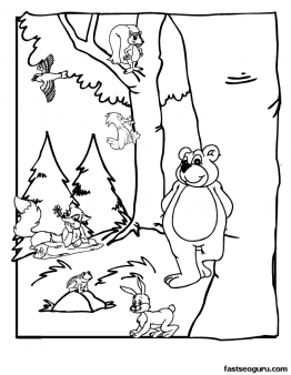 Printable Forest Animals Bear Coloring Page Printable Coloring Pages For Kids Bear Coloring Pages Animal Coloring Pages Preschool Coloring Pages